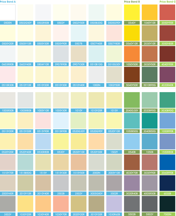 sample colour range