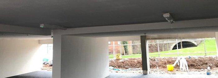 Spray Plaster on Large Area